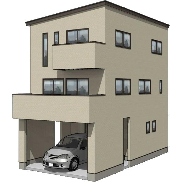 3階建て住宅の間取り一例